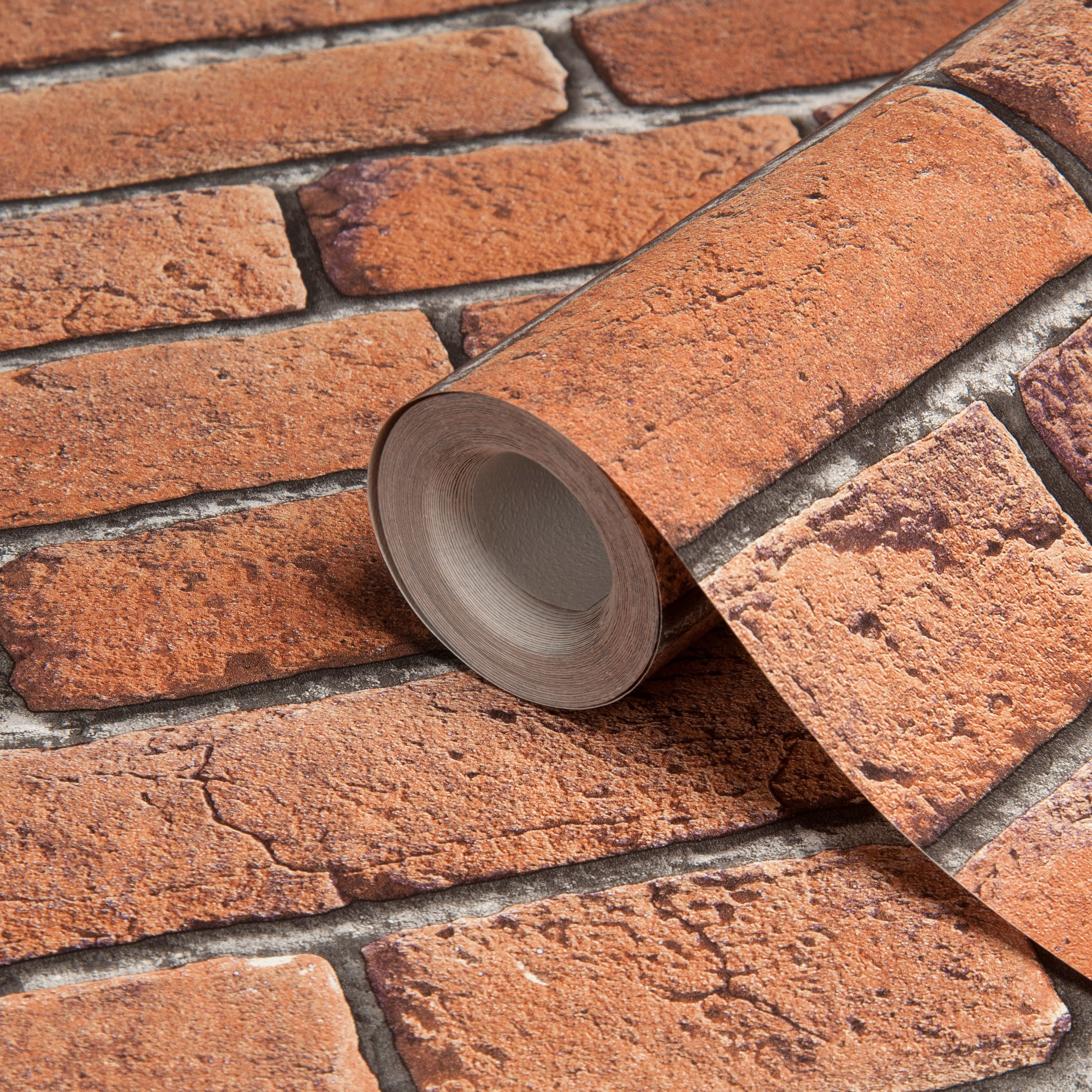 Brick Effect Wallpaper B &Amp; Q