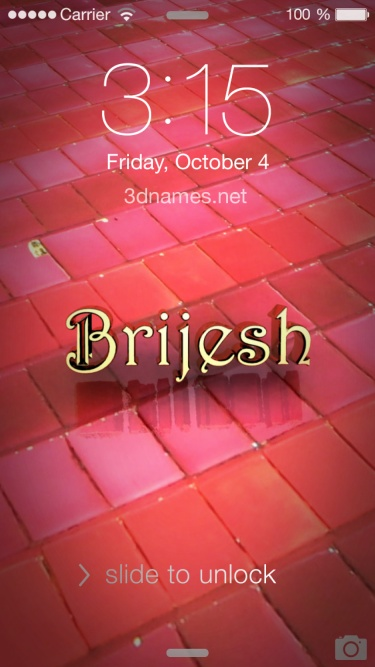 Brijesh Name Wallpaper