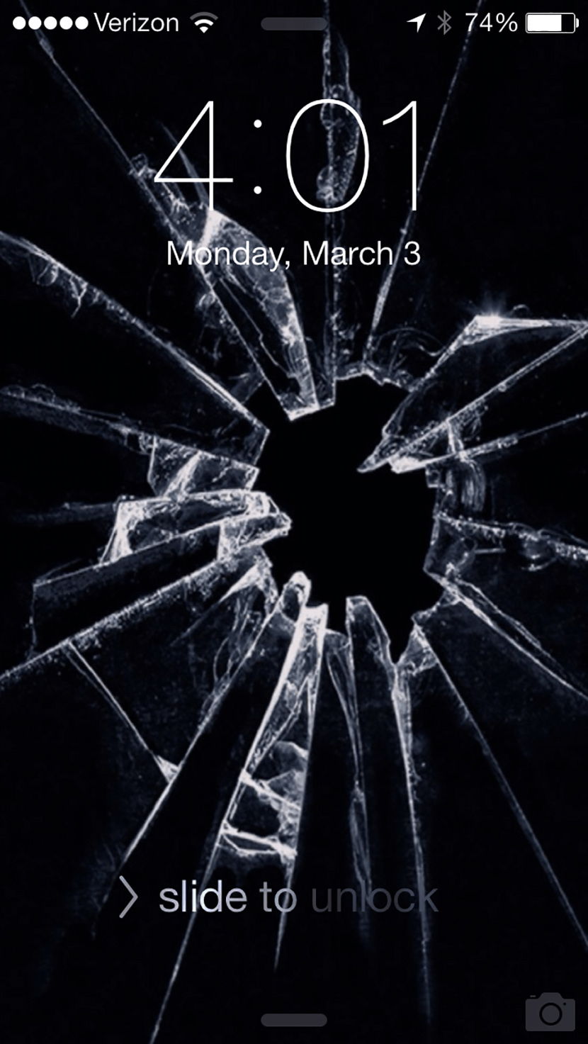 Broken Ipad Screen Wallpaper
