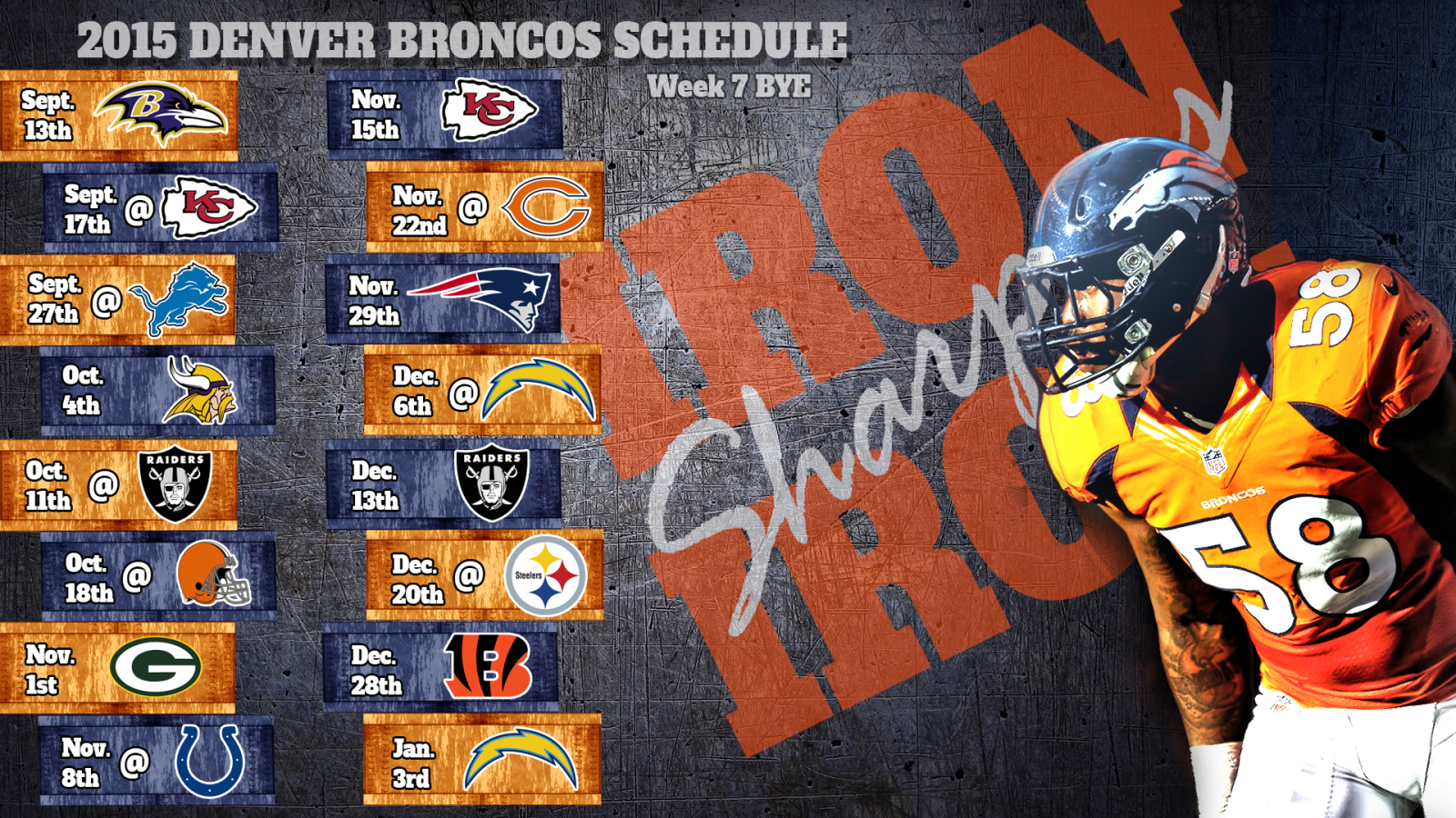 Broncos Schedule Wallpaper