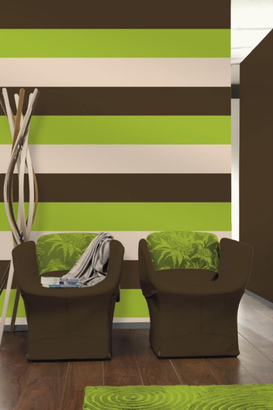 Brown And Lime Green Wallpaper