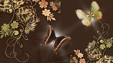 Brown Butterfly Wallpaper