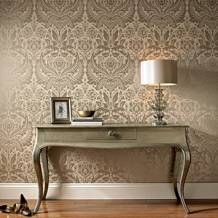 Brown Wallpaper Feature Wall