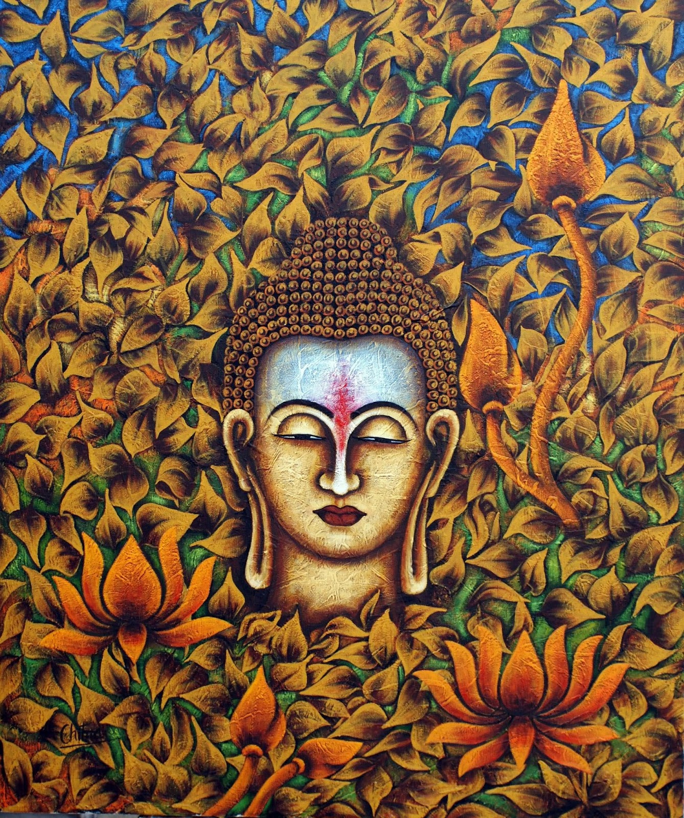 Download Buddha Painting Wallpaper Gallery
