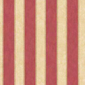 Burgundy And Cream Striped Wallpaper