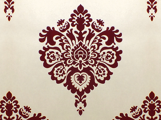 Burgundy And Cream Wallpaper