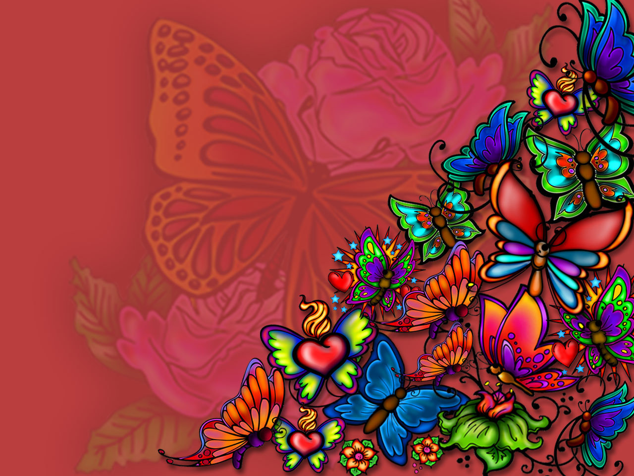 Butterfly Tattoo Wallpaper