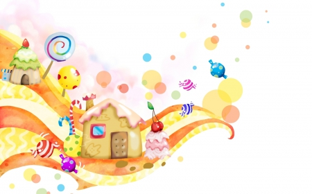 Candy World Wallpaper