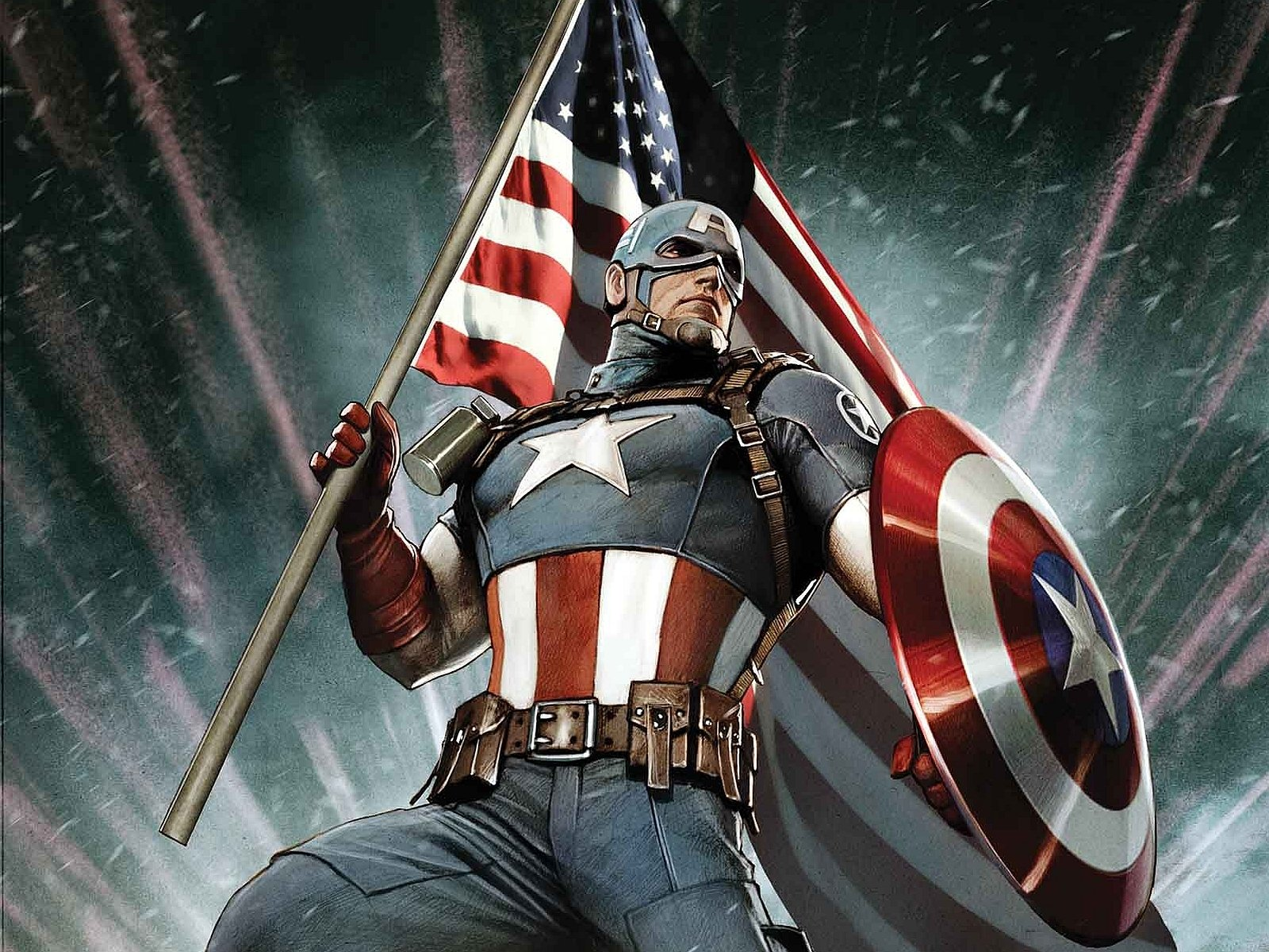 Captain America Comic Wallpaper