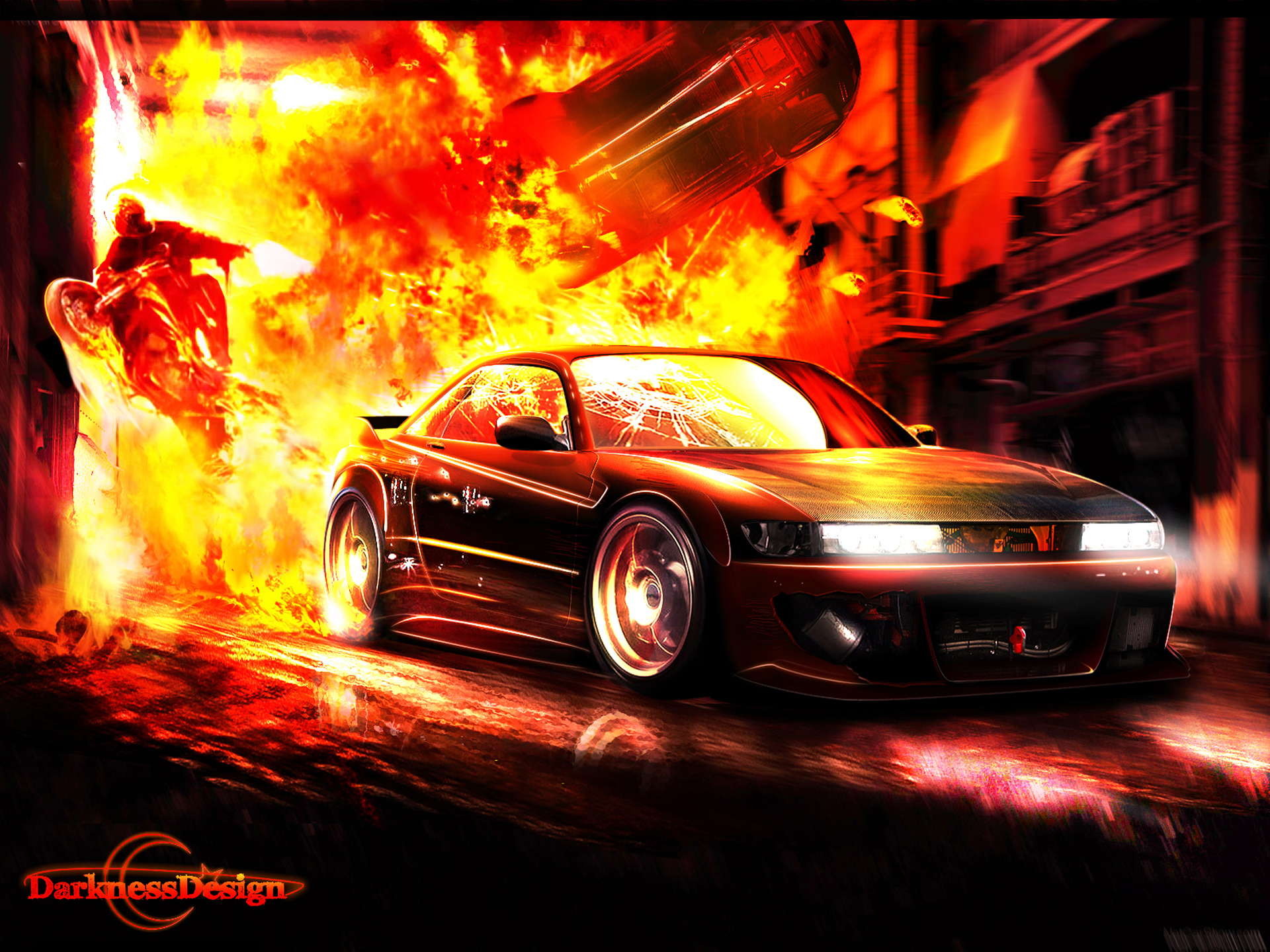 Download Car On Fire Wallpaper Gallery