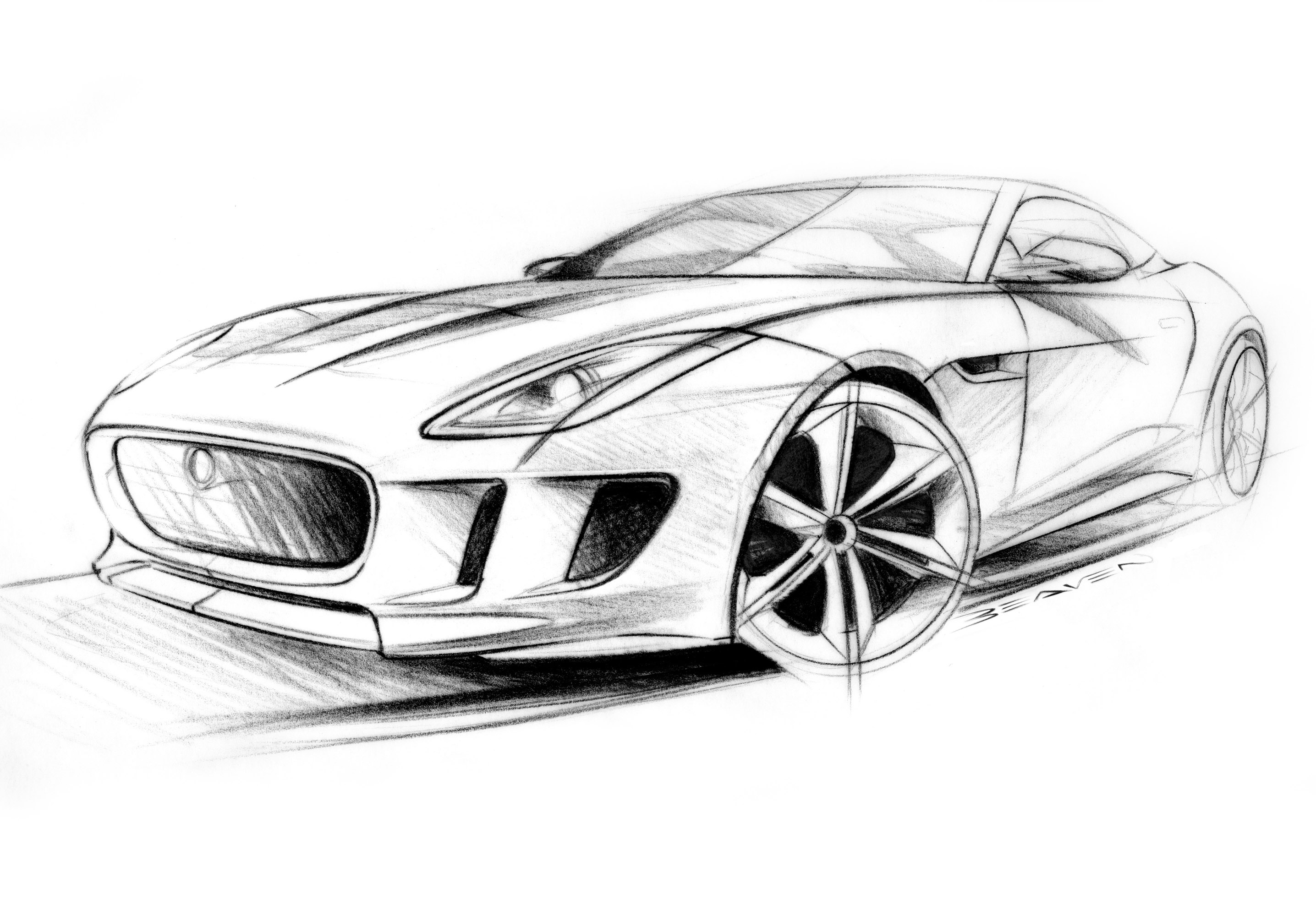 Car Sketch Wallpaper