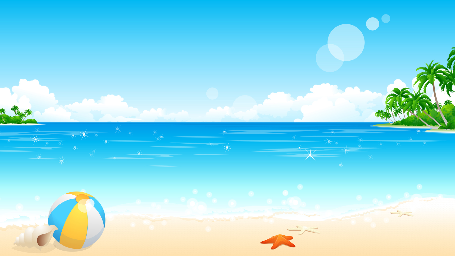 Cartoon Beach Wallpaper