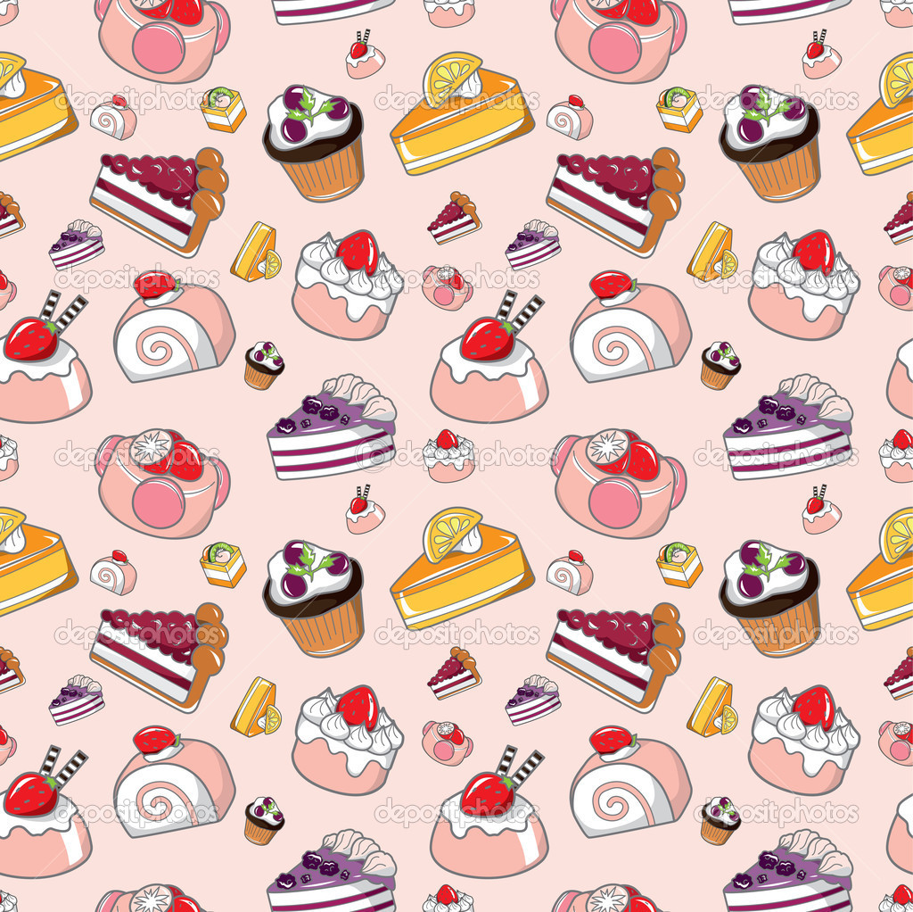 Cartoon Cake Wallpaper