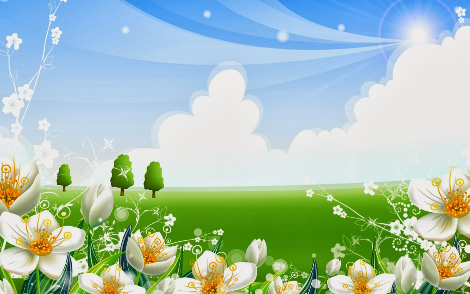 Cartoon Garden Wallpaper