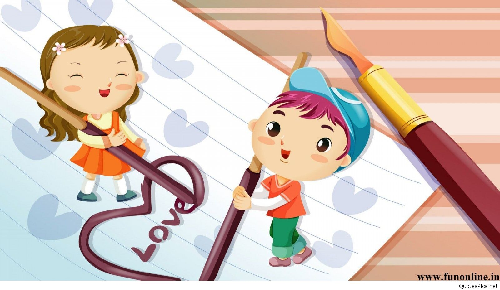 Cartoon Love Wallpaper HD