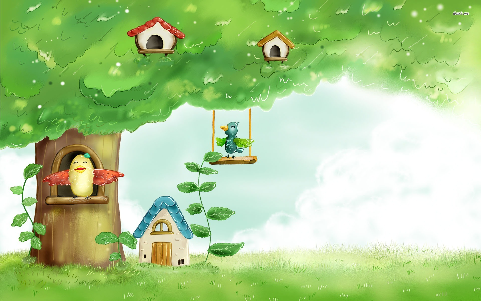 Cartoon Tree Wallpaper