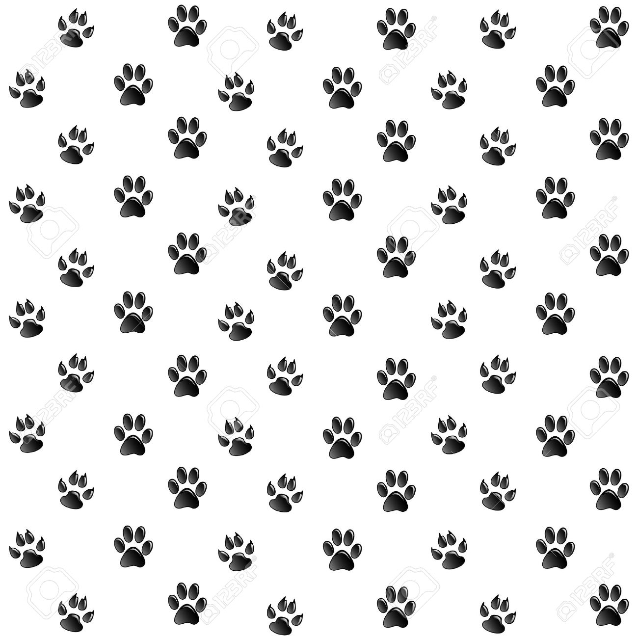 Cat Paw Print Wallpaper
