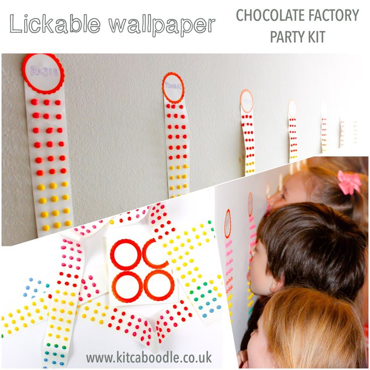 Charlie And The Chocolate Factory Lickable Wallpaper