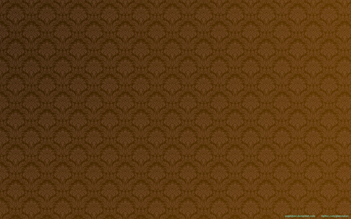 Chocolate Brown Damask Wallpaper