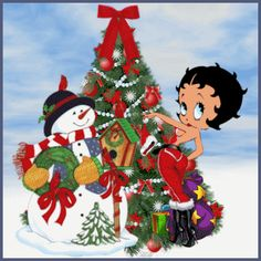 Christmas Betty Boop Wallpaper