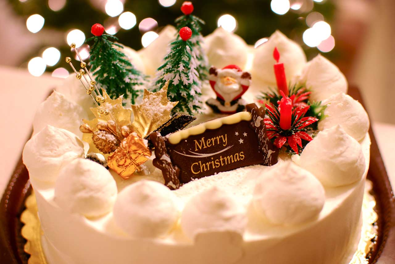 Christmas Cake Wallpaper