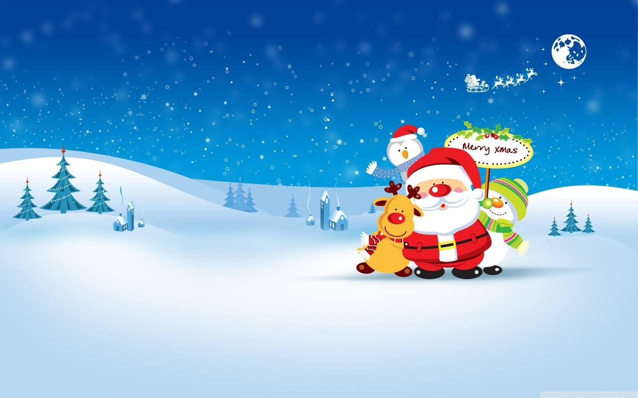 Christmas Cartoon Wallpaper