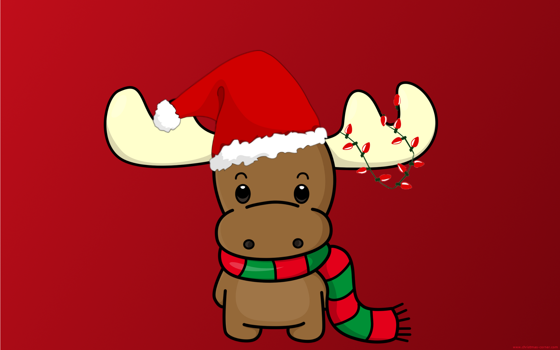 Christmas Moose Wallpaper