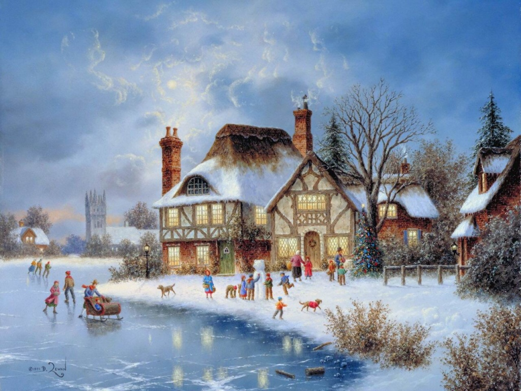 Christmas Painting Wallpaper