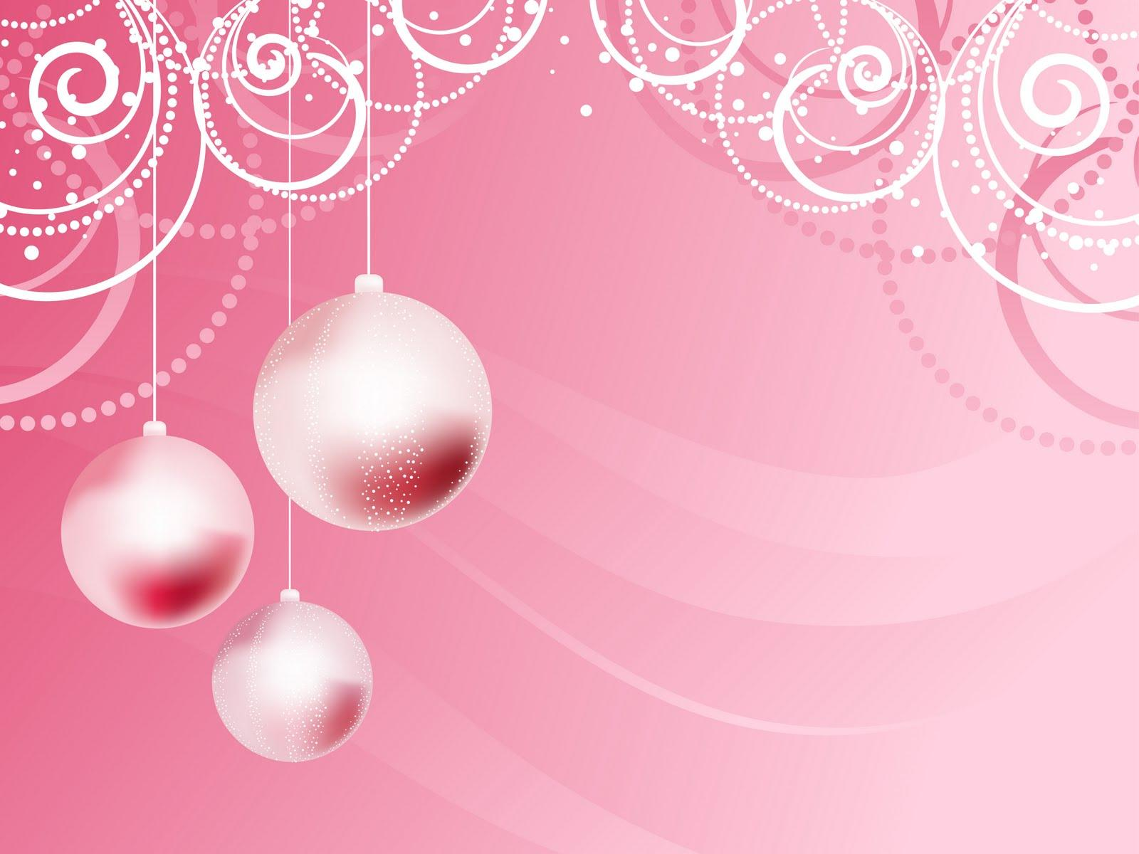 Christmas Pink Wallpaper