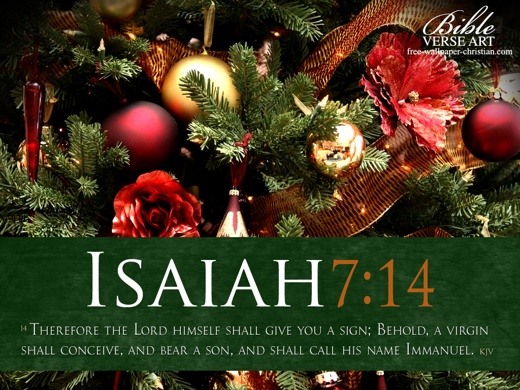 Christmas Scripture Wallpaper