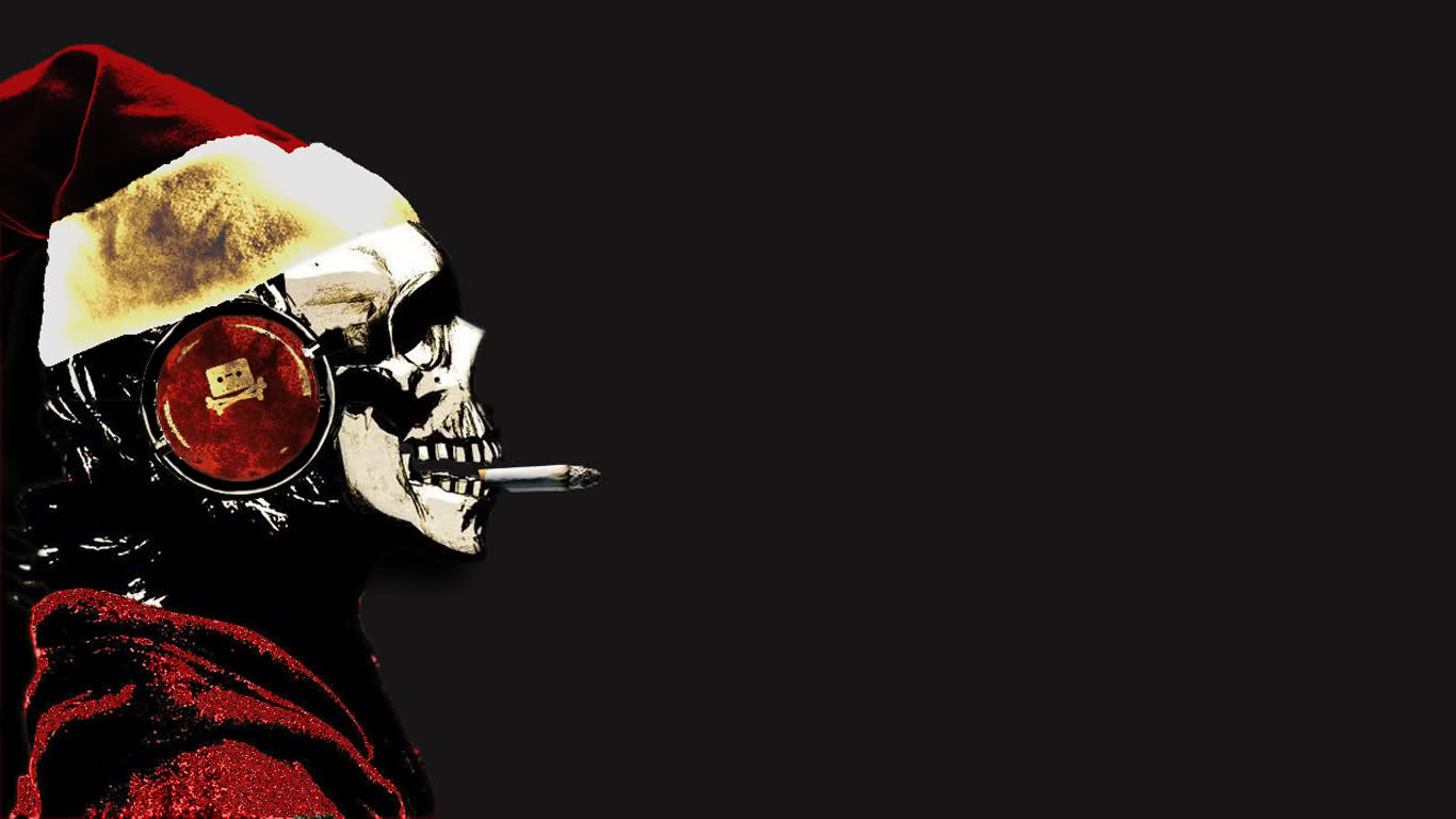 Christmas Skull Wallpaper