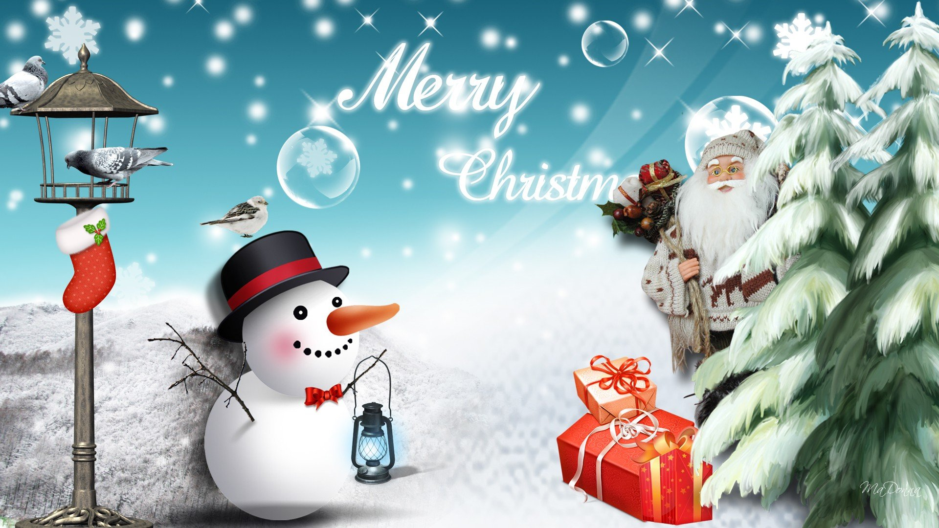 Christmas Snowman Wallpaper