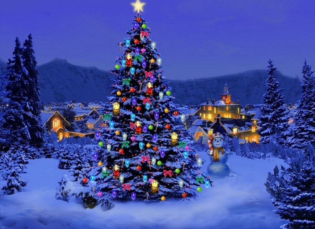 Christmas Tree HD Widescreen Wallpaper