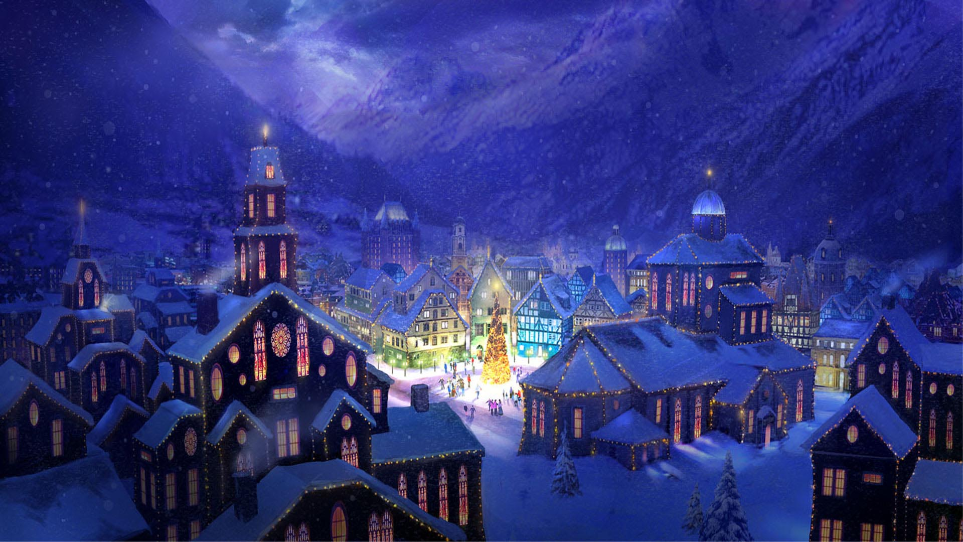 Christmas Village Wallpaper