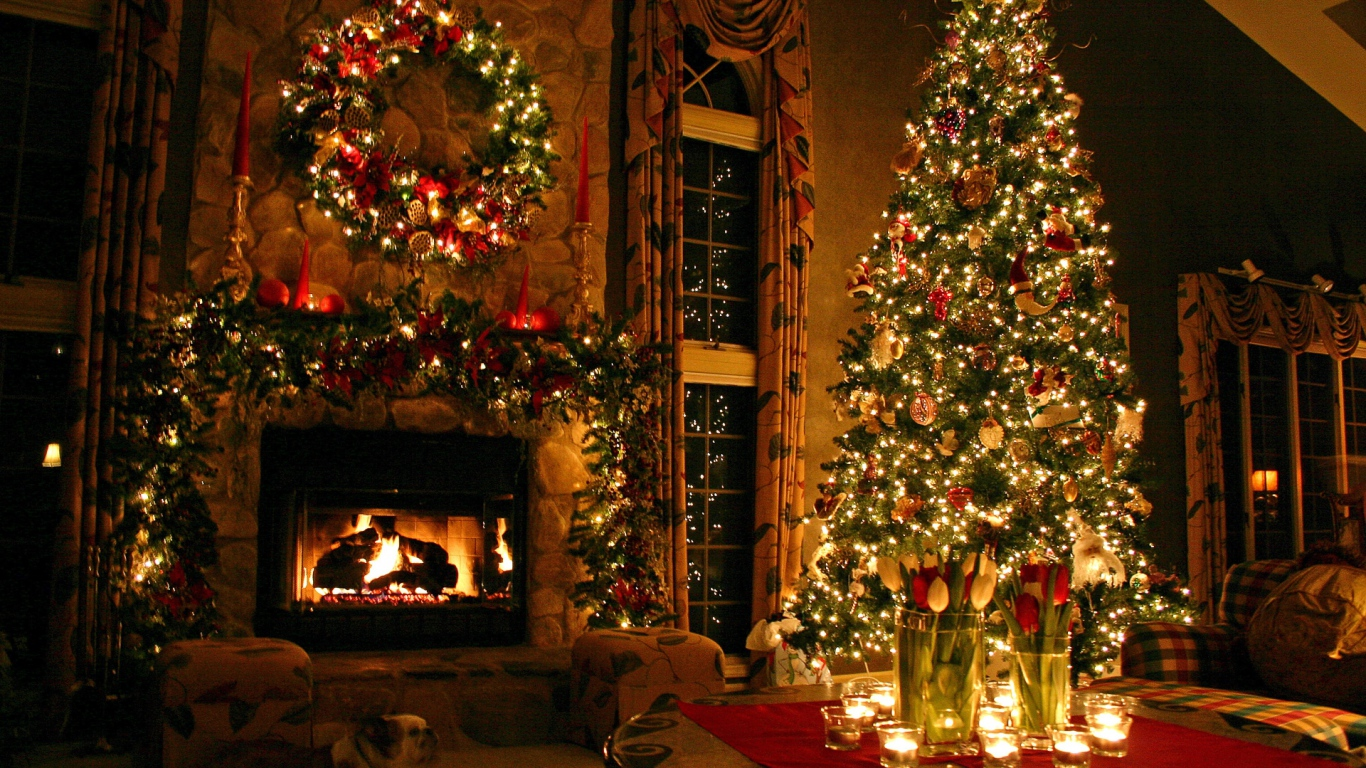 Christmas Wallpaper 1366x768 HD