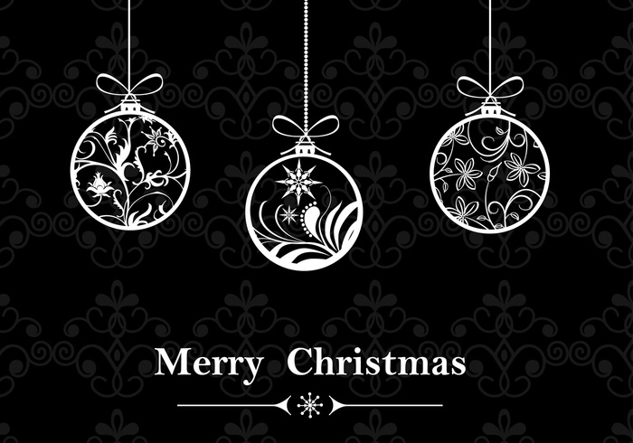 Christmas Wallpaper Black