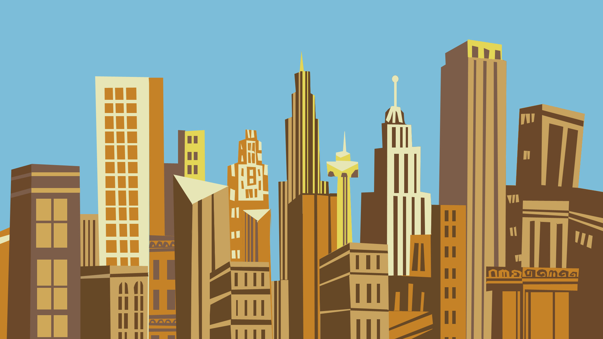 City Cartoon Wallpaper