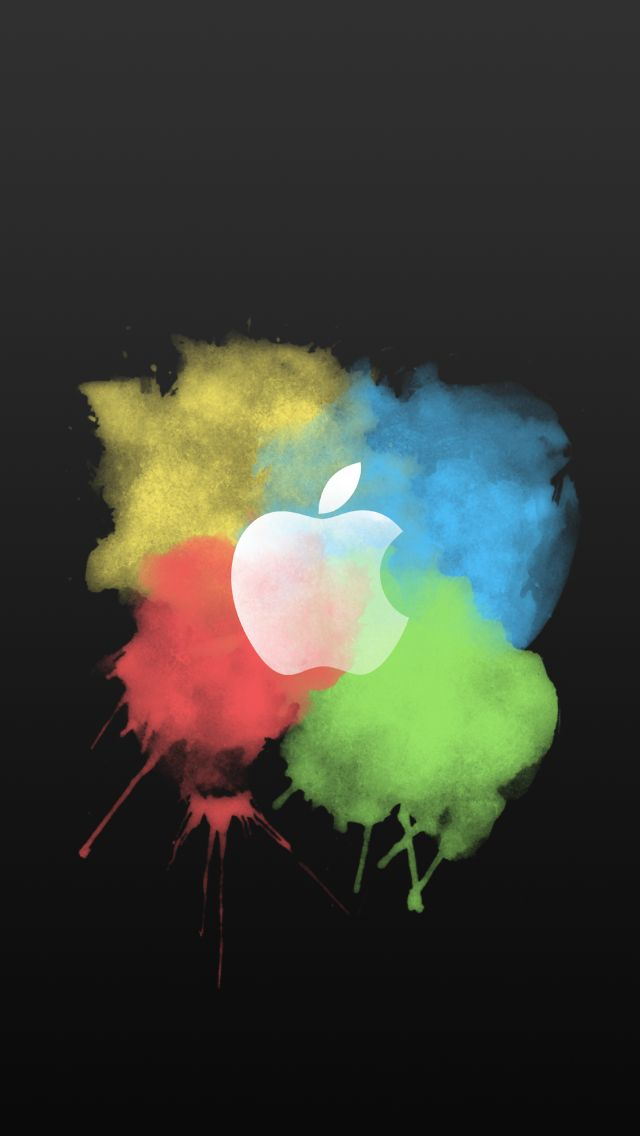 Colorful Apple Logo Wallpaper