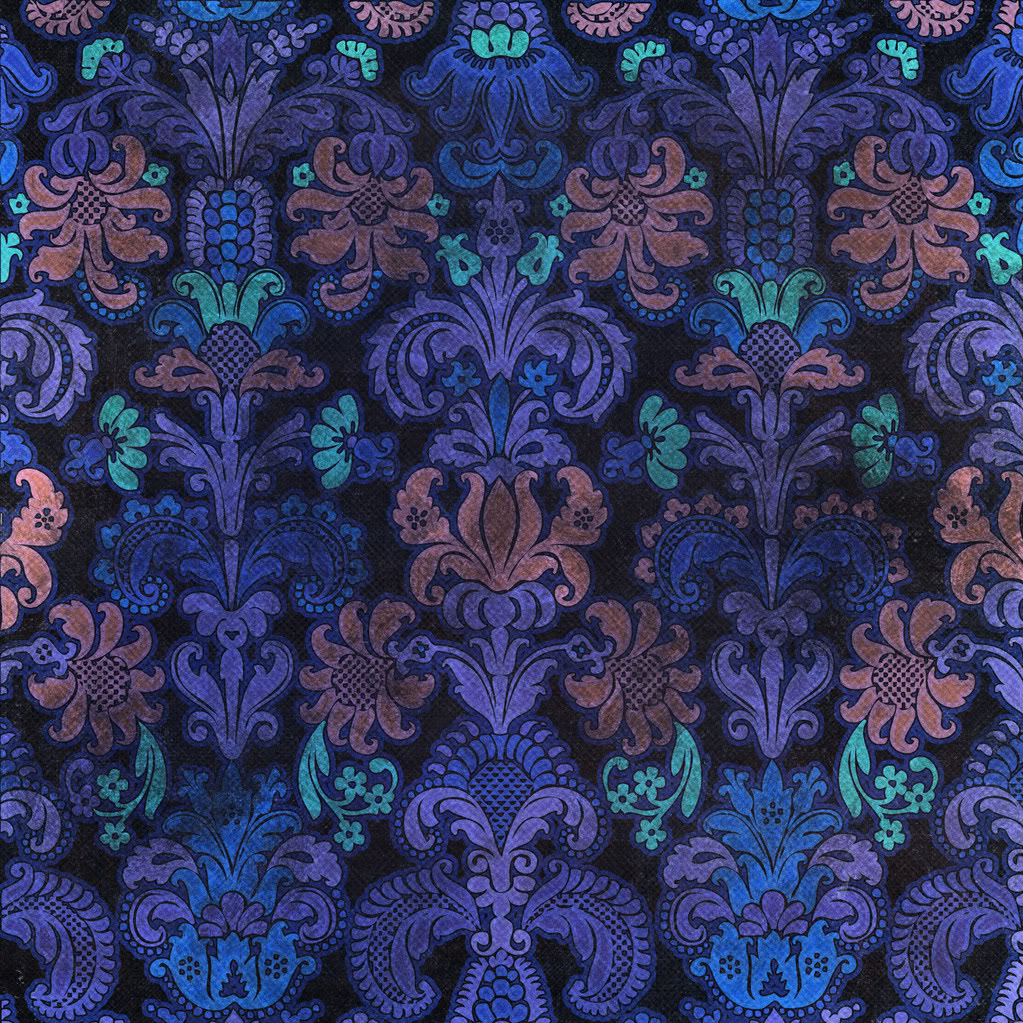 Colorful Damask Wallpaper