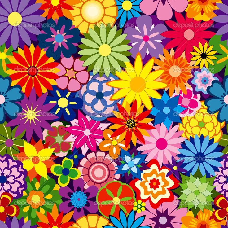 Colorful Flower Wallpaper Designs