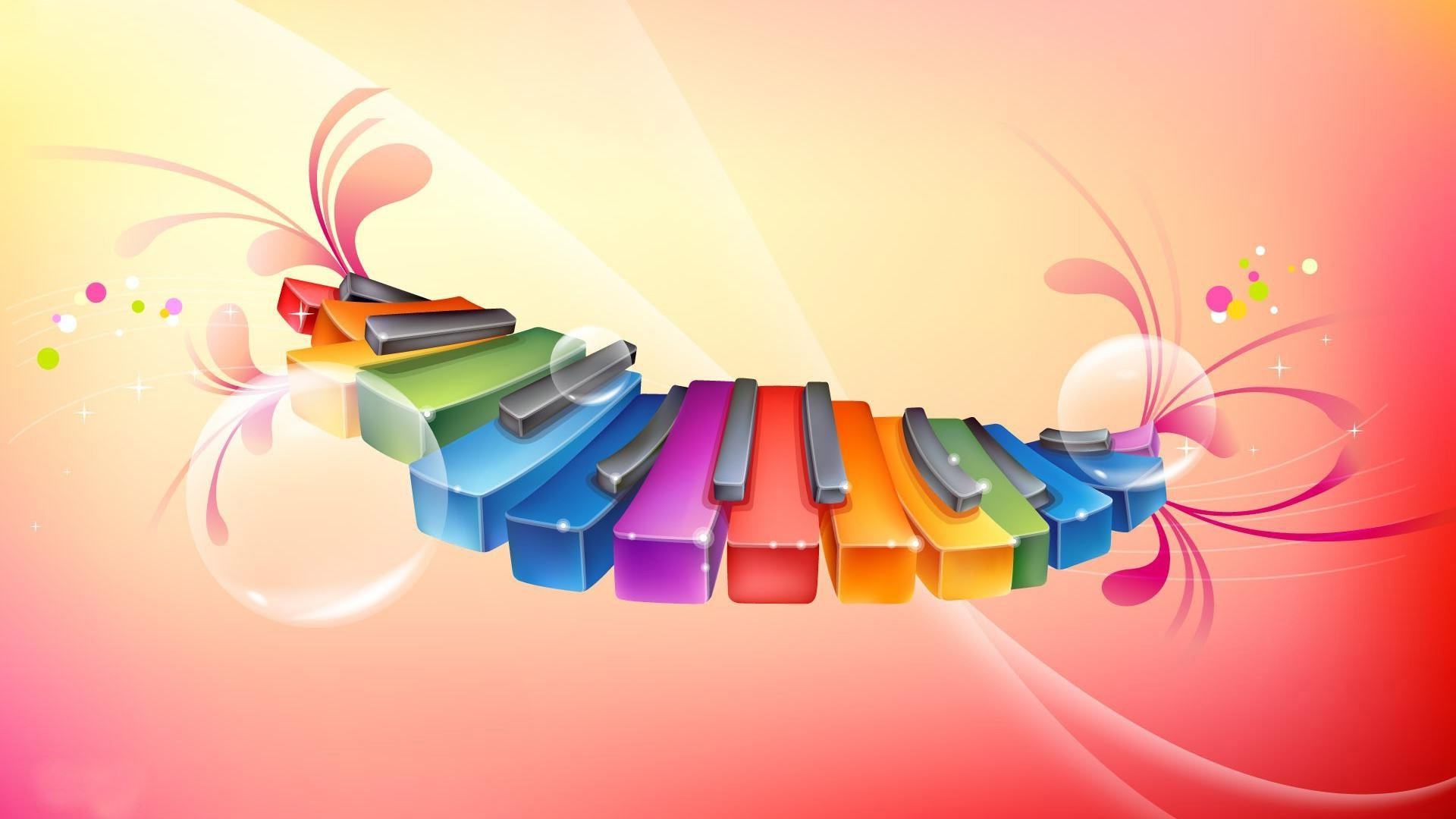 download colorful piano wallpaper gallery