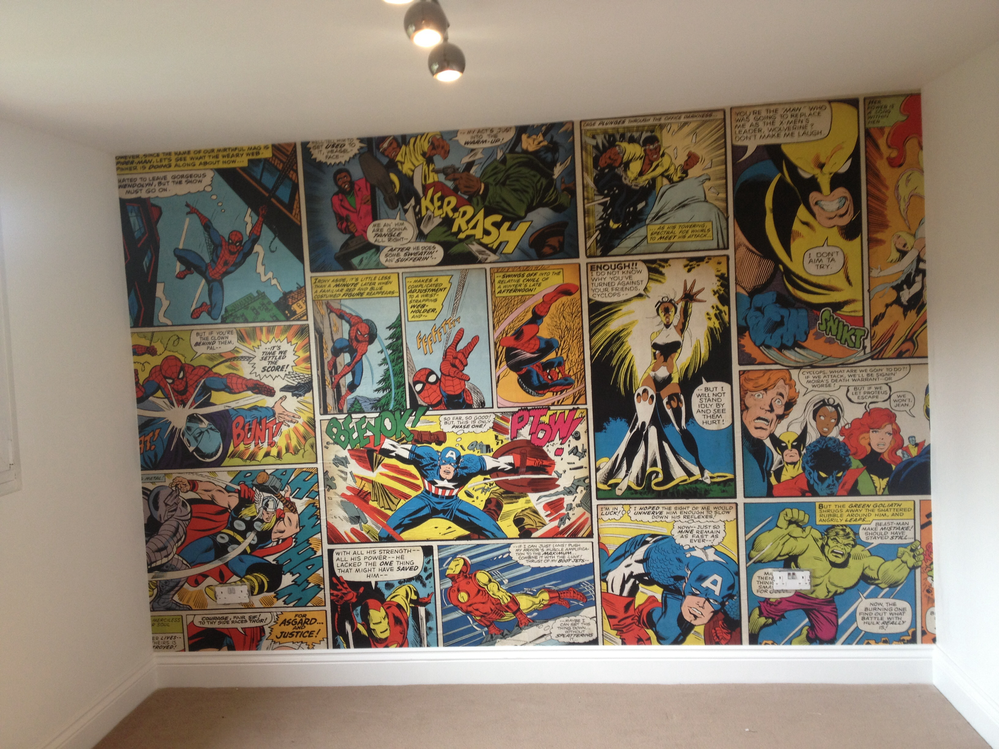 Comic Book Bedroom Wallpaper