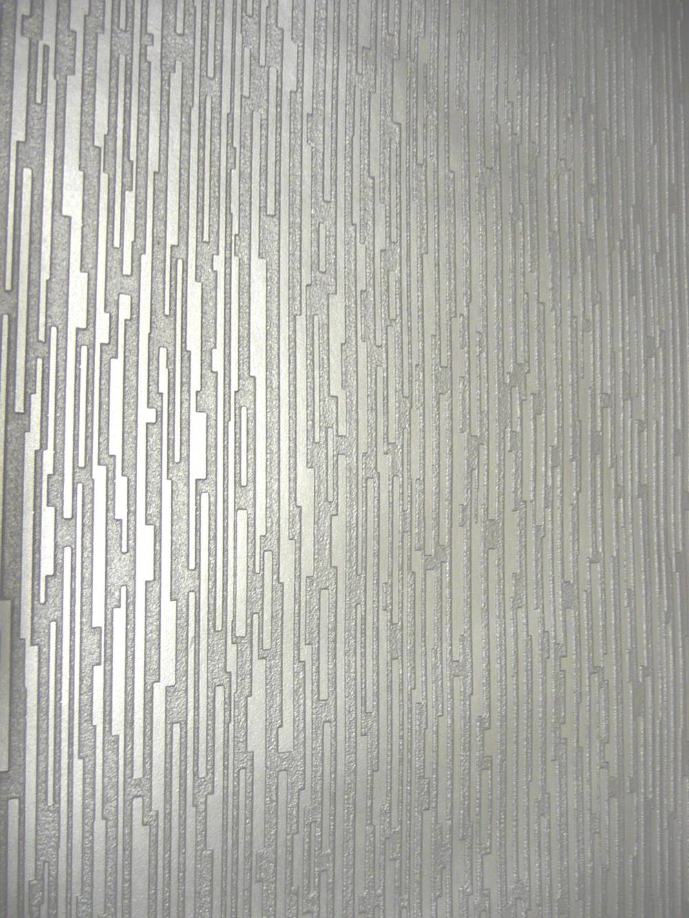 Contemporary Silver Wallpaper