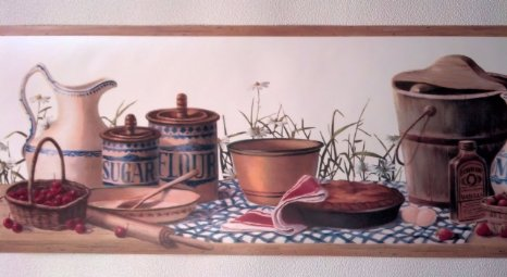 Country Kitchen Wallpaper Border