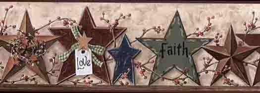 Country Primitive Wallpaper Border