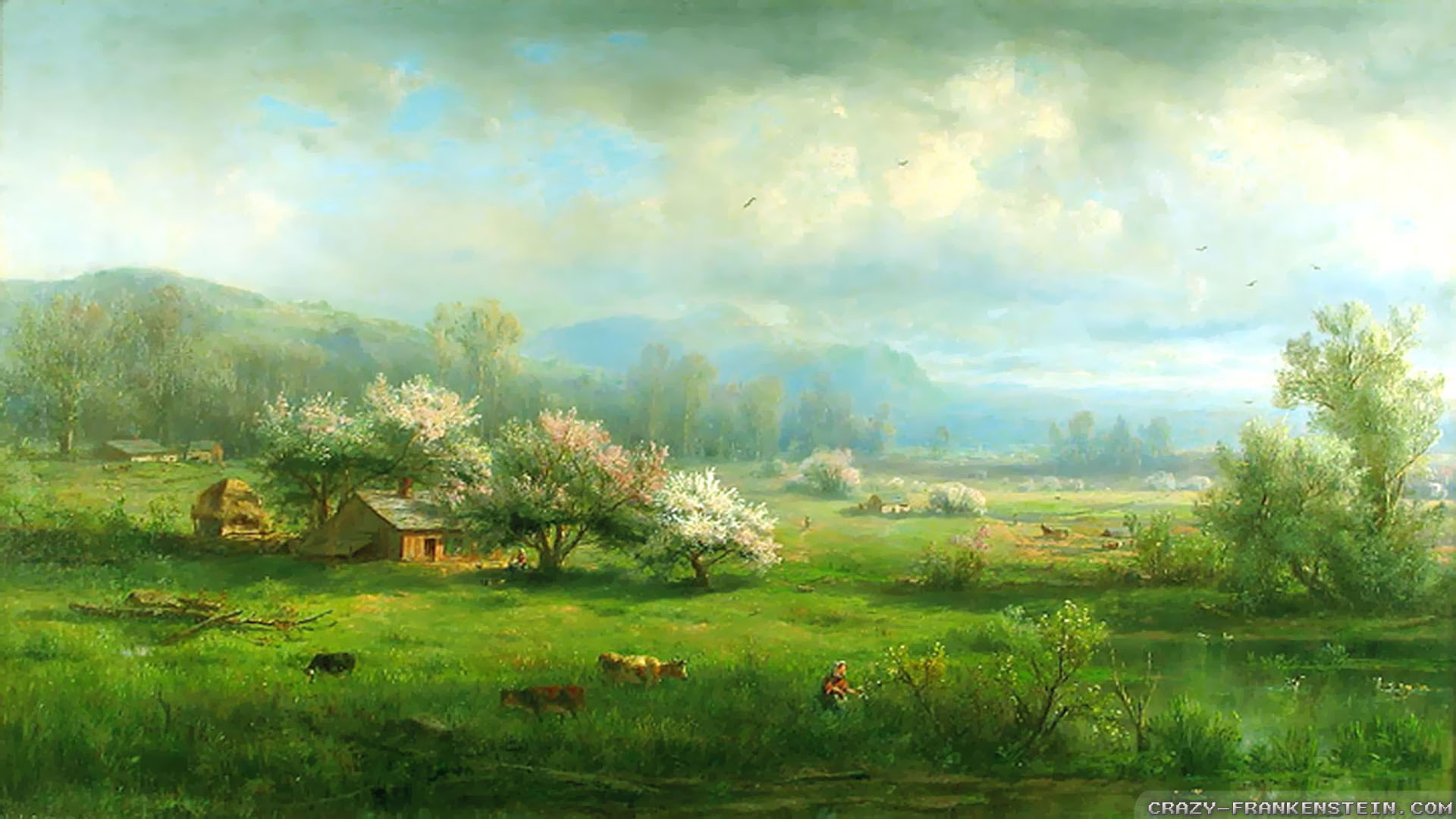 Country Spring Wallpaper