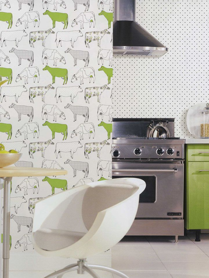 Cow Wallpaper For Kitchen