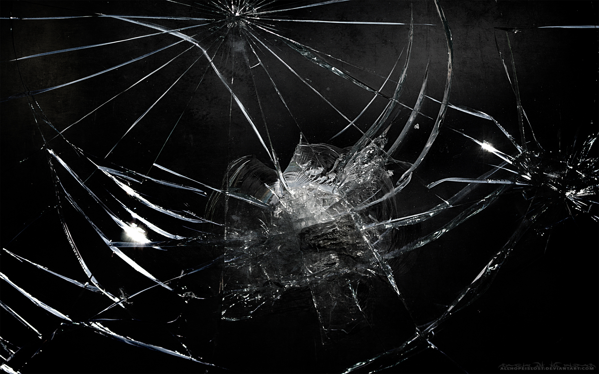 Cracked Screen Wallpaper