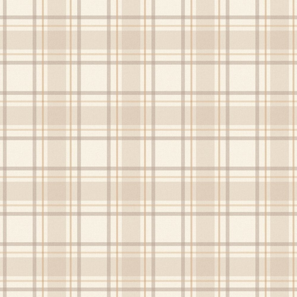 Cream Tartan Wallpaper