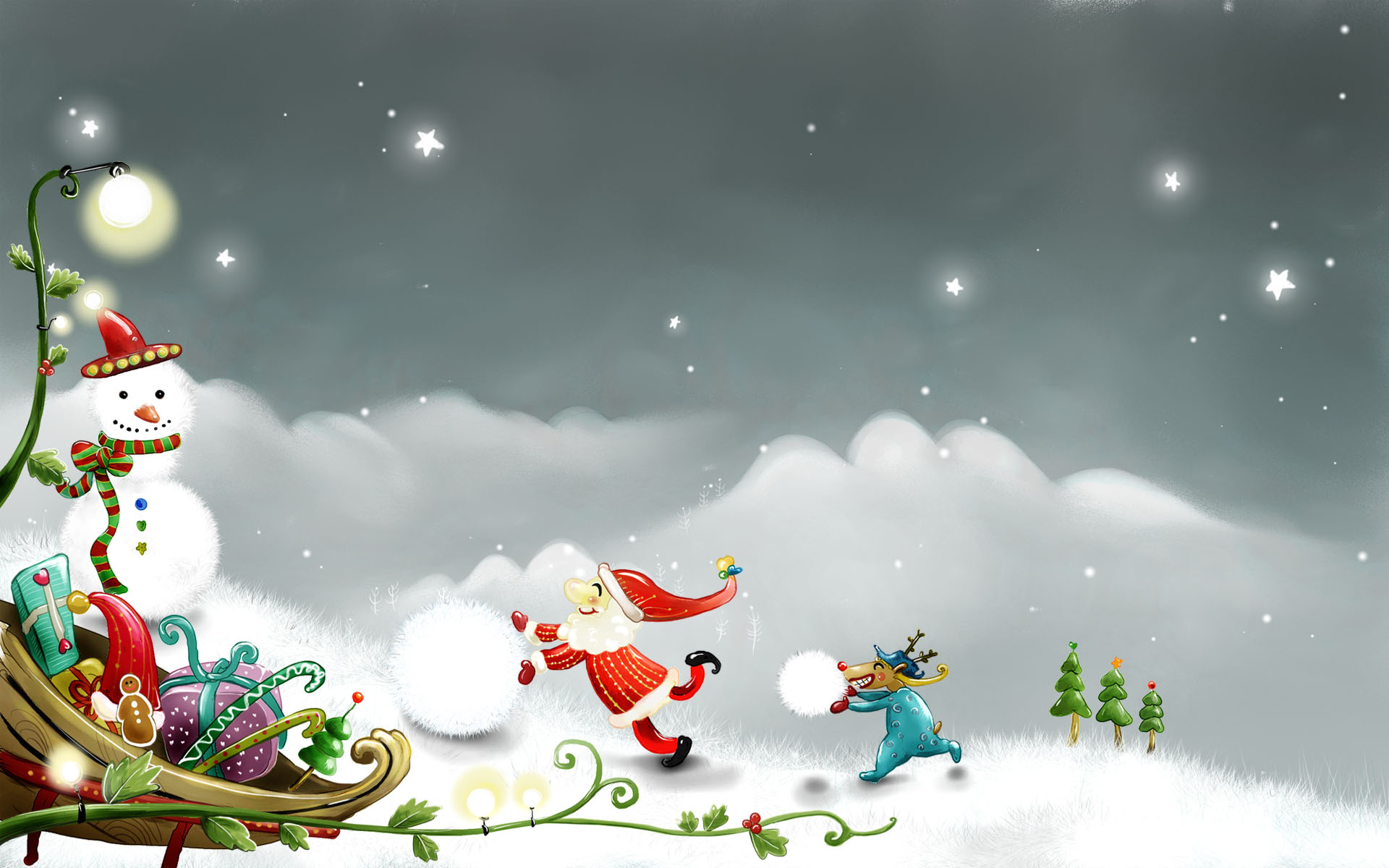 Creative Christmas Wallpaper